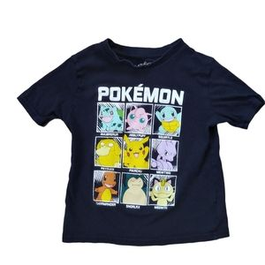 Pokemon Black T-shirt with all Characters, 6